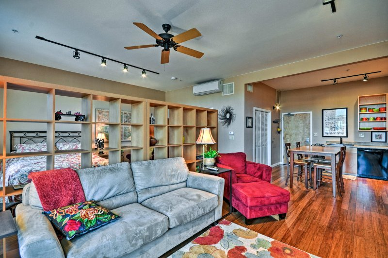 Find your home-away-from-home at this vacation rental studio in Hillsboro!