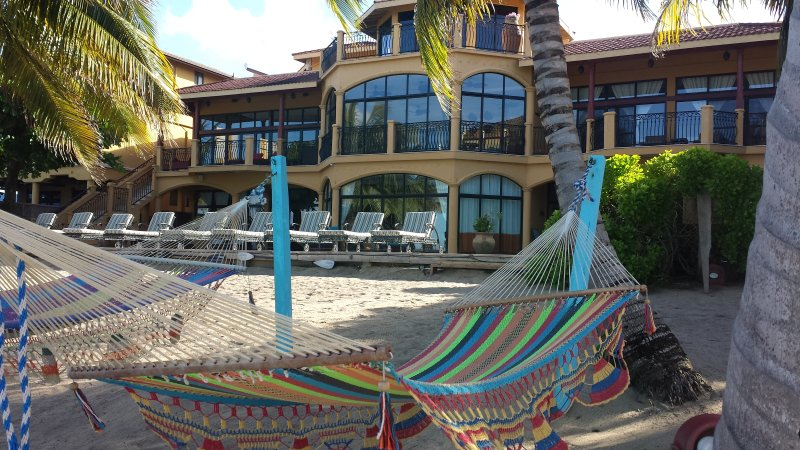 Relax in one of our beach side hammocks.