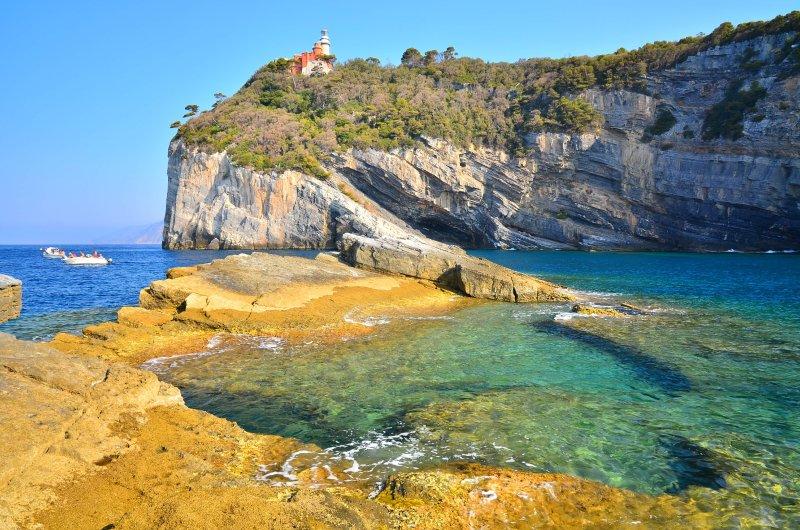 isla de Tino en el área marina protegida - la isla de Tino en el mar protegida