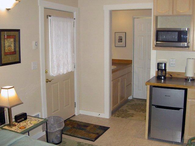 entry door into Kitchen