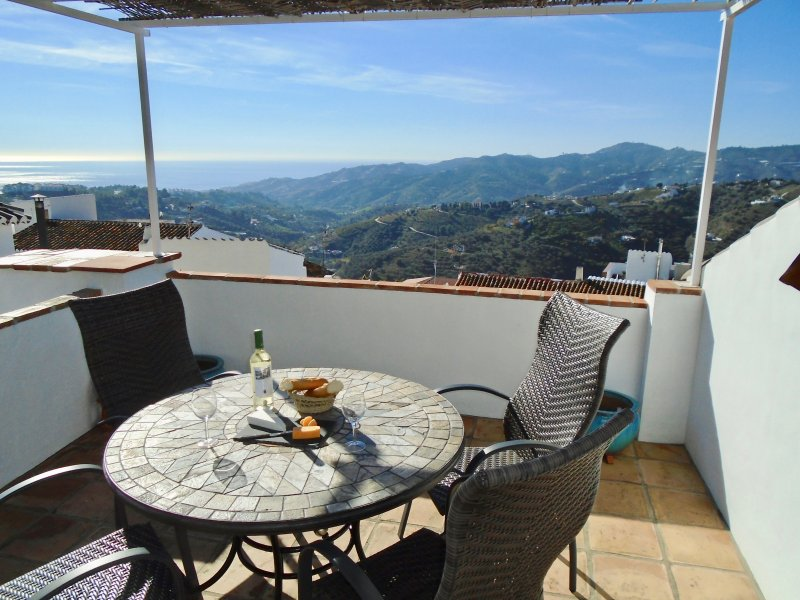 Beautiful views of Frigiliana countryside and coast of Nerja