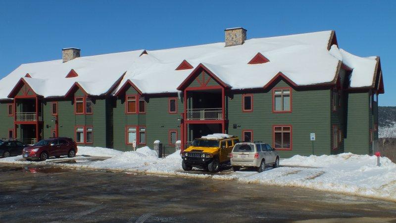 Rück 'Birches' Gebäude