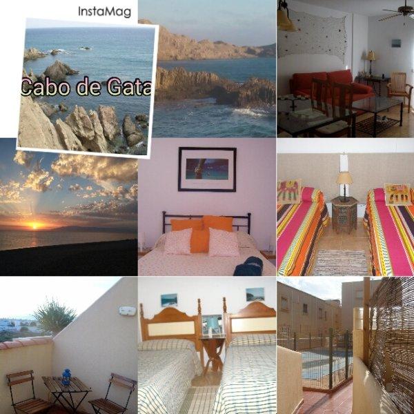 Casa con piscina en parque natural de Cabo de Gata – semesterbostad i El Toyo