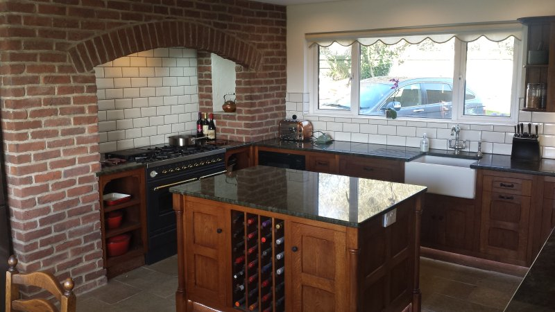 Solid oak kitchen with granite work top