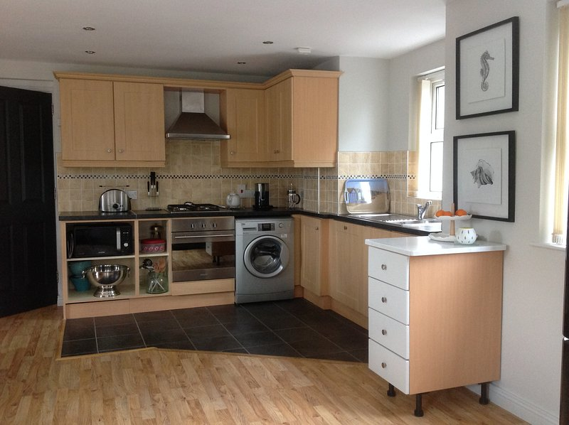 Kitchen area. Well equipped with all you need for your holiday.