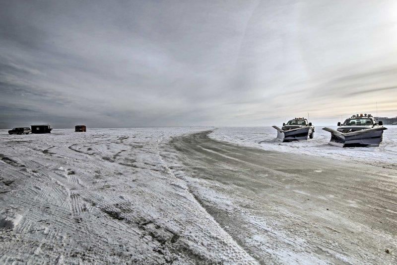 Invierno en Wisconsin es el momento perfecto para pescar en el hielo!