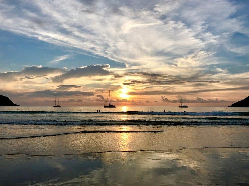 Last Stunning sunset at Nai Harn Beach