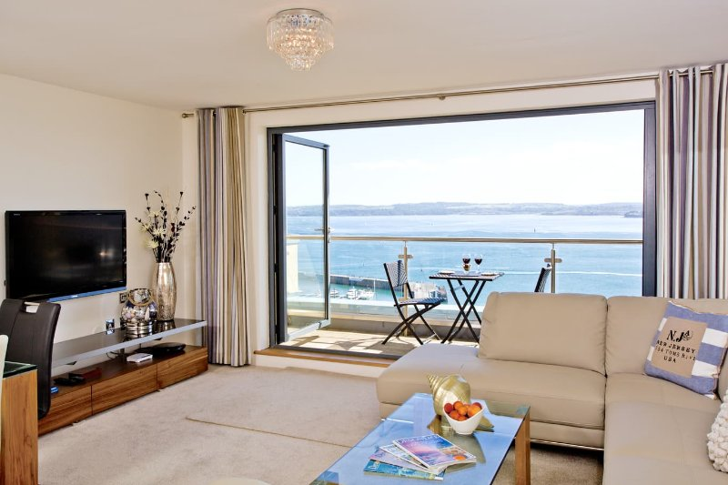 Lounge with stunning sea views