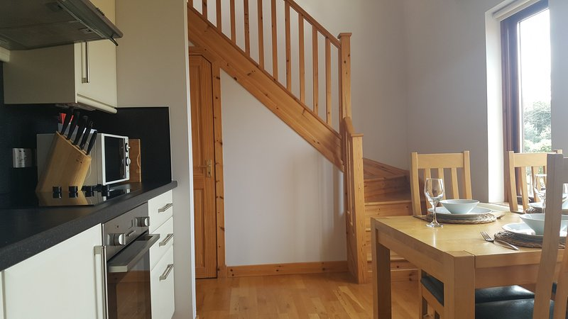 Staircase to the first floor living area