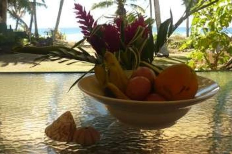 Fruit on the deck in front of Reef View Studio