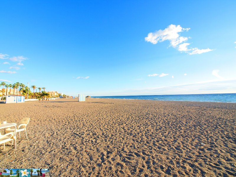 beach with restaurants and tapas bars