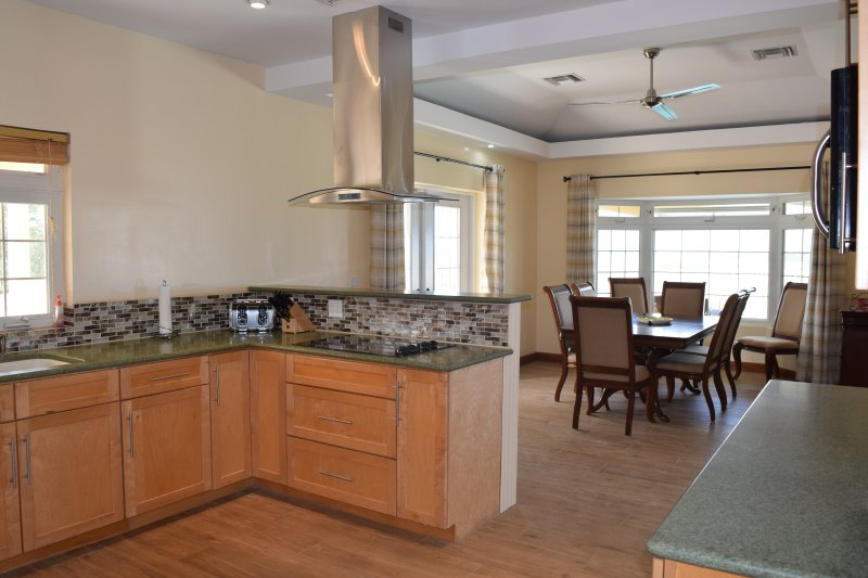 Recently remodelled kitchen and dining room