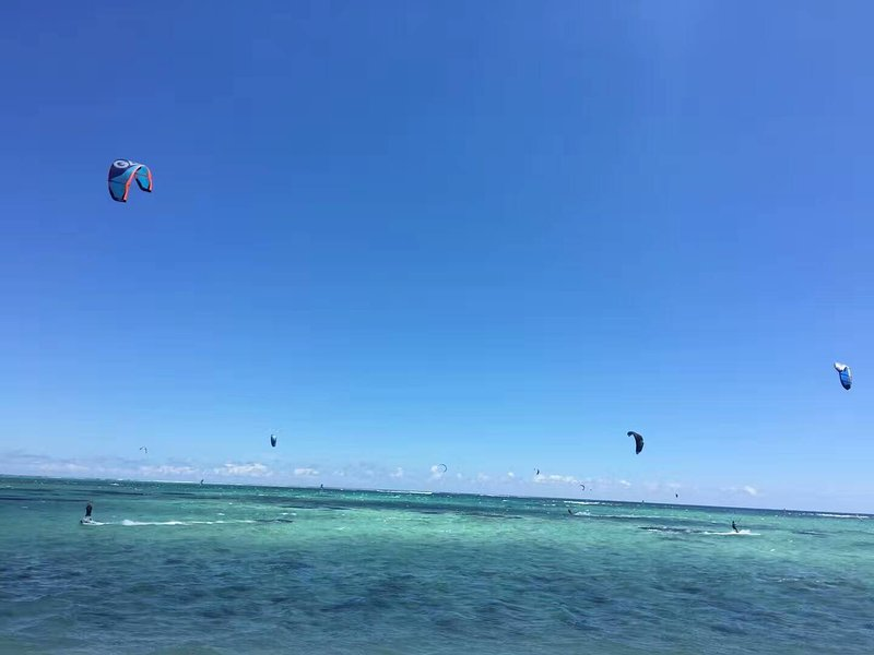 Kite surfen seizoen