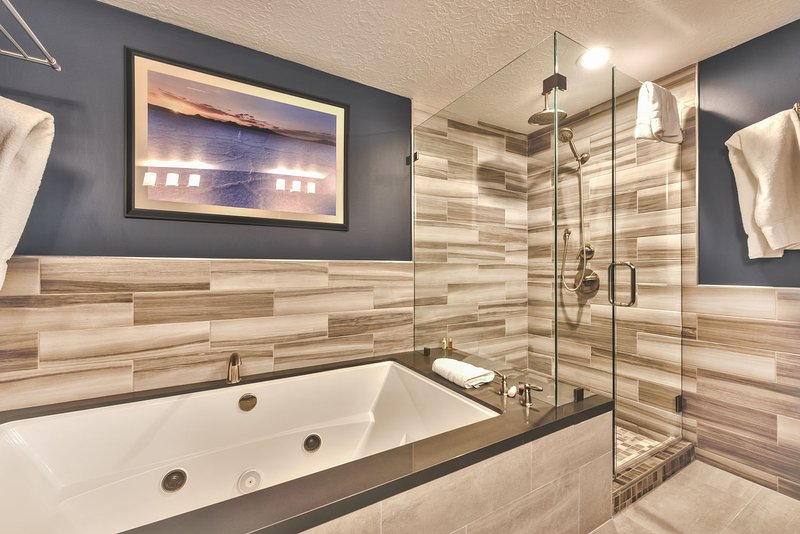 Master Bath with Dual Sinks, Jetted Tub and Separate Tile Shower