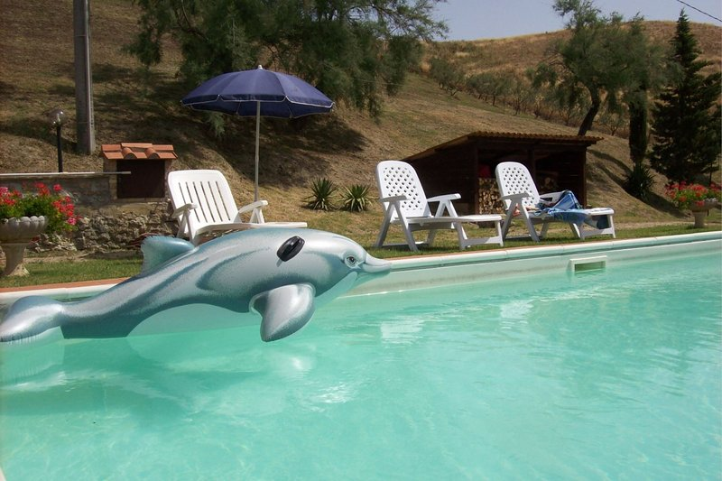 Fattoria Spedaletto Apartment Sleeps 5 with Pool - 5490481, holiday rental in Villamagna
