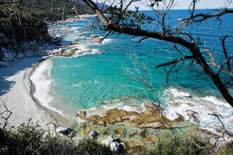 The awesome beach near Kalamaki