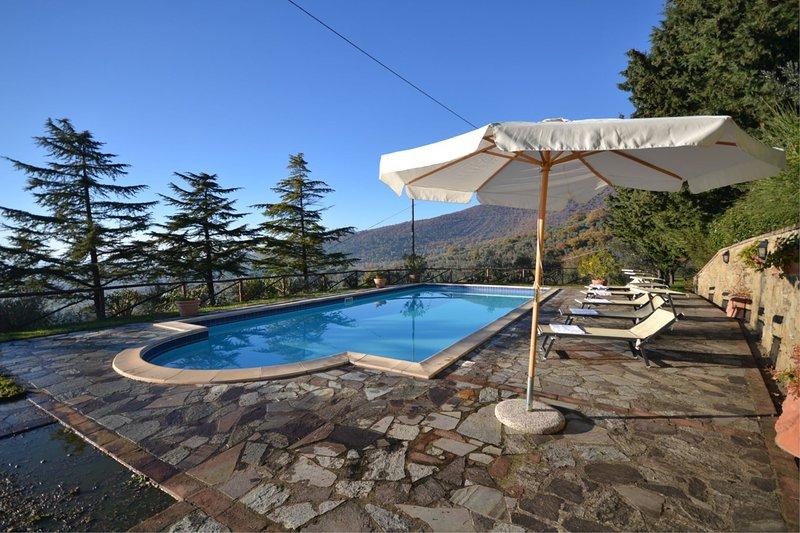 Pergaccio Villa Sleeps 10 with Pool and Air Con - 5490573, location de vacances à Pergo