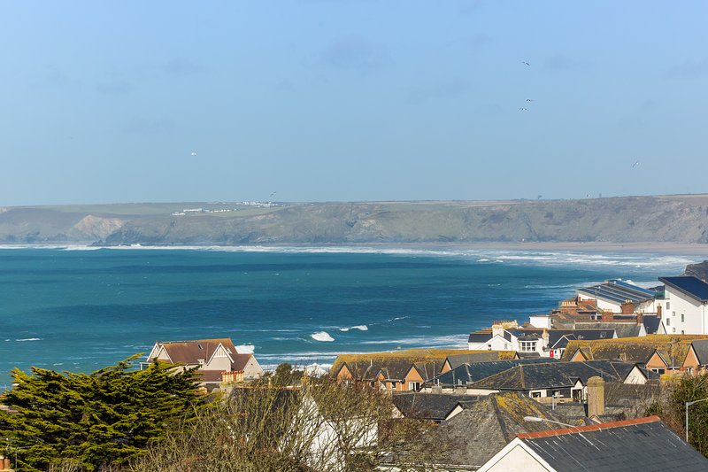 View from the house across Newquay Bay
