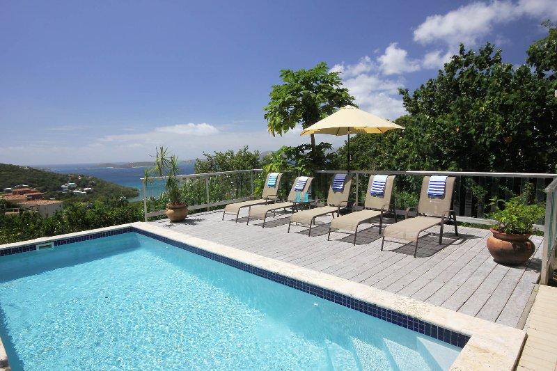 Se trata de una piscina para los amantes del sol, con el sol en la cubierta de 9 am a la puesta del sol