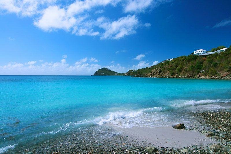 The pebble beach at Klein Bay
