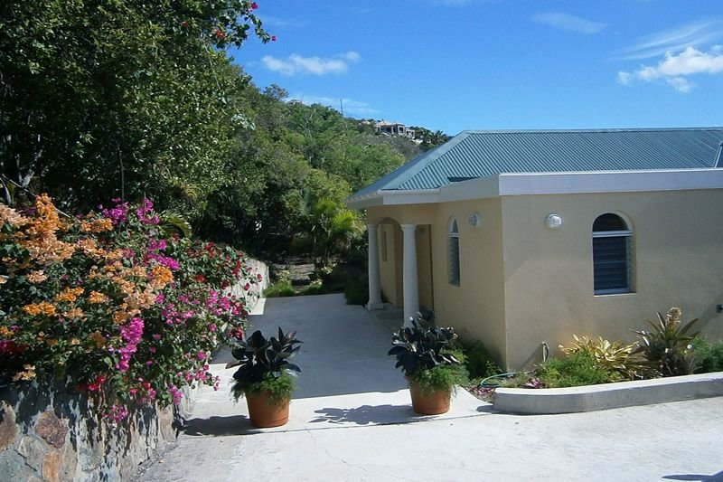 The entrance to Oleander, beautifully landscaped