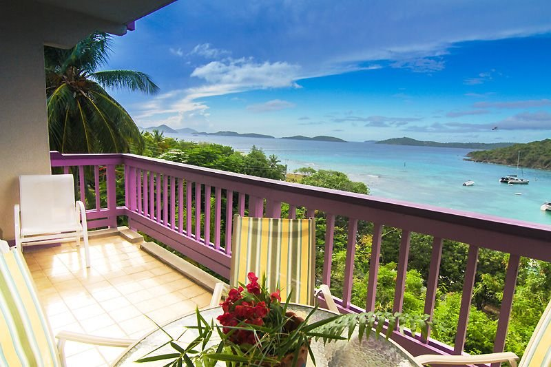 Your view to the west includes sunsets, St. Thomas and many other Virgin Islands