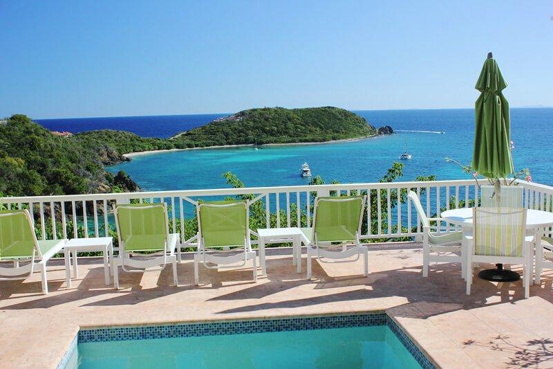 Orchid Villa hat einen sehr malerischen Blick auf Klein Bay