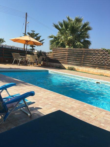 Big villa with swimming-pool & Wifi, holiday rental in Dherinia