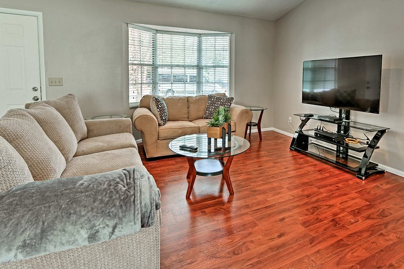 After a day at Disney World, you'll love returning to this well-furnished home.