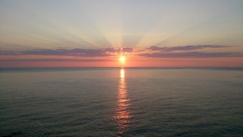 Ver amanecer desde la pensinsula