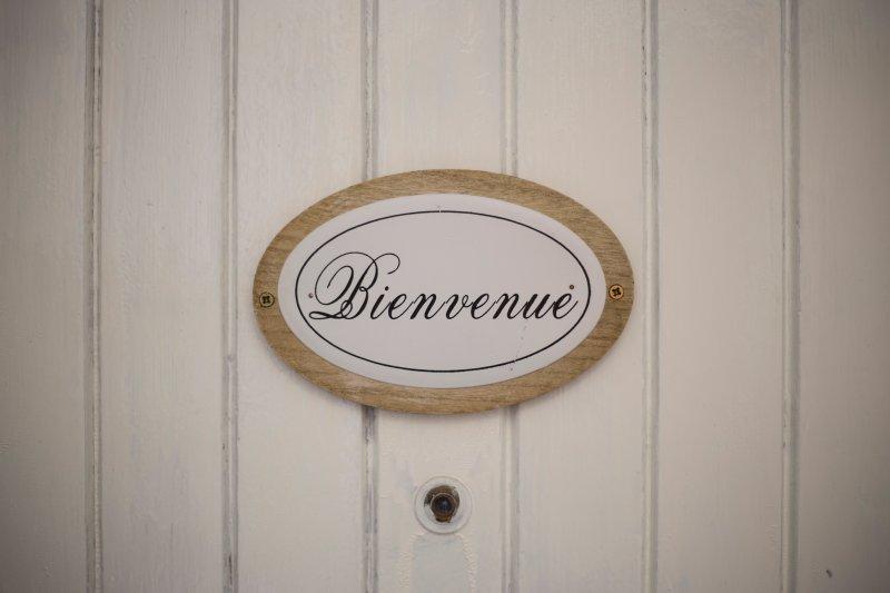 welcome - welcome - bienvenue