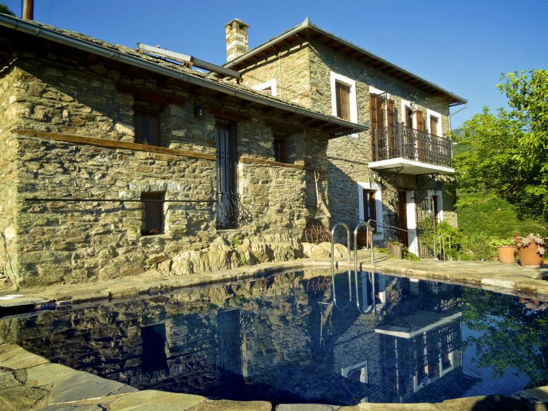 Traditional stone villa with pool