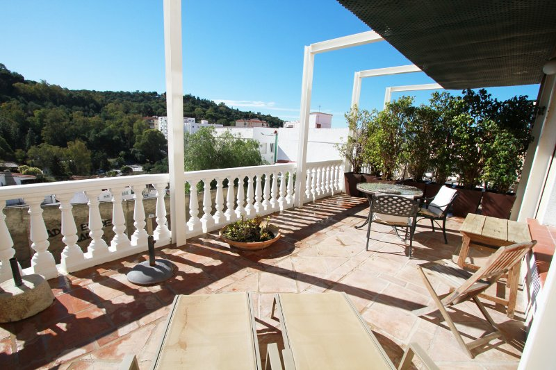 Private Terrace with  Sunny South Views to Gibralfaro Castle