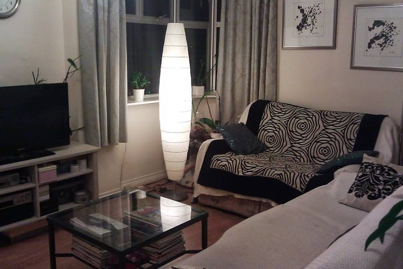 Living room, night time