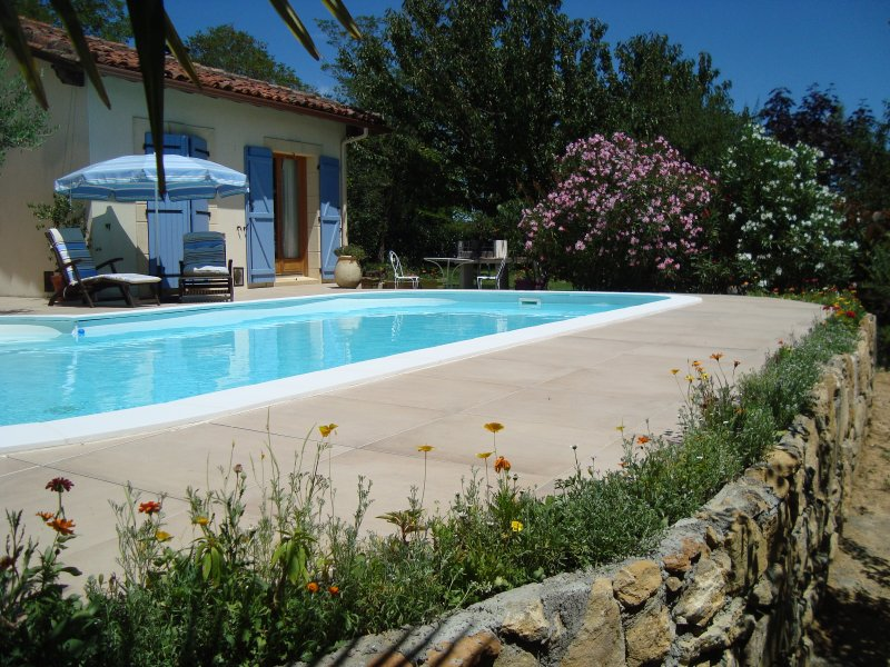 Nice studio with shared pool, holiday rental in Riscle