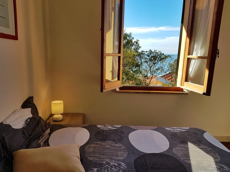 Sea View From Third Bedroom With Two single beds