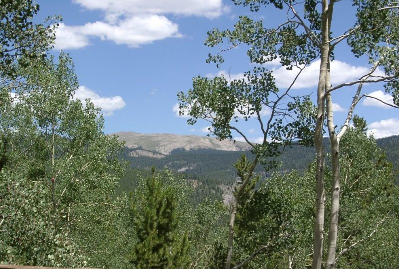 View of Green Mountain from deck