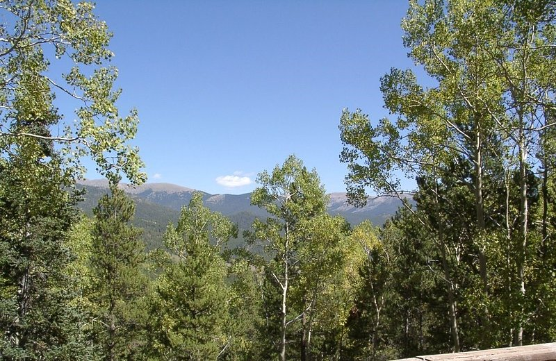 View of Continental Divide from deck