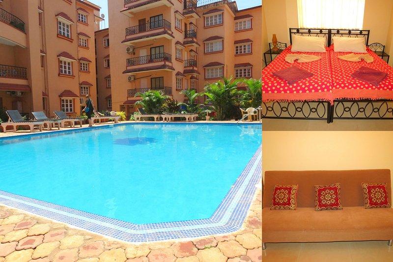 h41) Serviced Apartment Ground Floor Near Baga Beach, holiday rental in Saligao