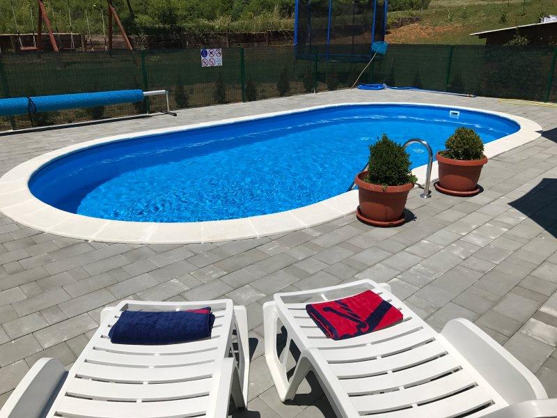 Nice apt with shared pool & balcony, holiday rental in Rakovica