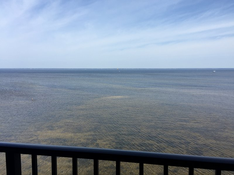Beautiful view directly overlooking the Choctawhatchee Bay.