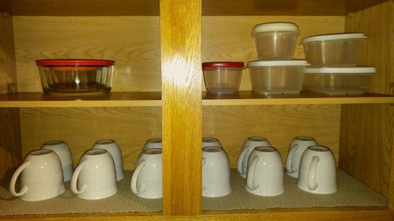 Los contenedores de almacenamiento, y tazas de café