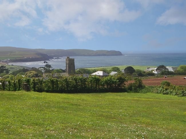 View of Thurlestone beach taken from nearby the property