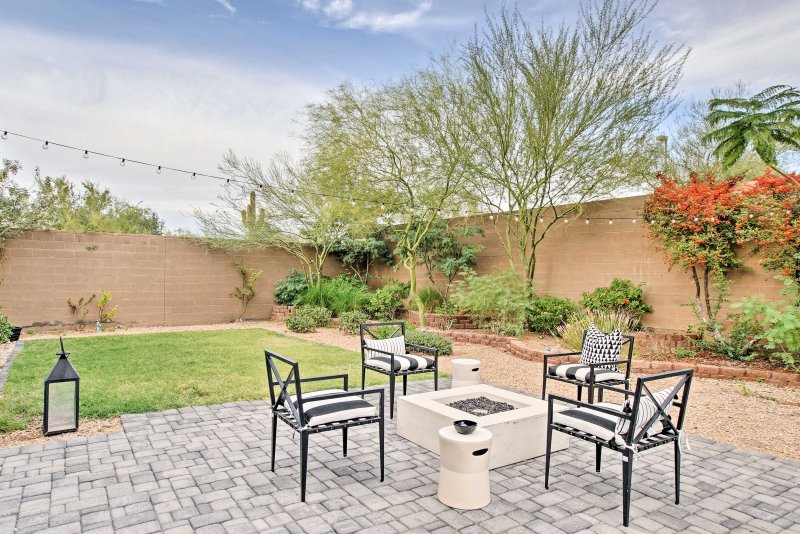 The home boasts 2,900 square feet of living space and a private backyard paradise.