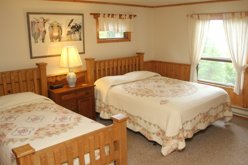 Second bedroom with single and queen