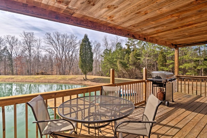 Experience the outdoors at 'Whitetail Cottage,' a vacation rental cabin in Derby.