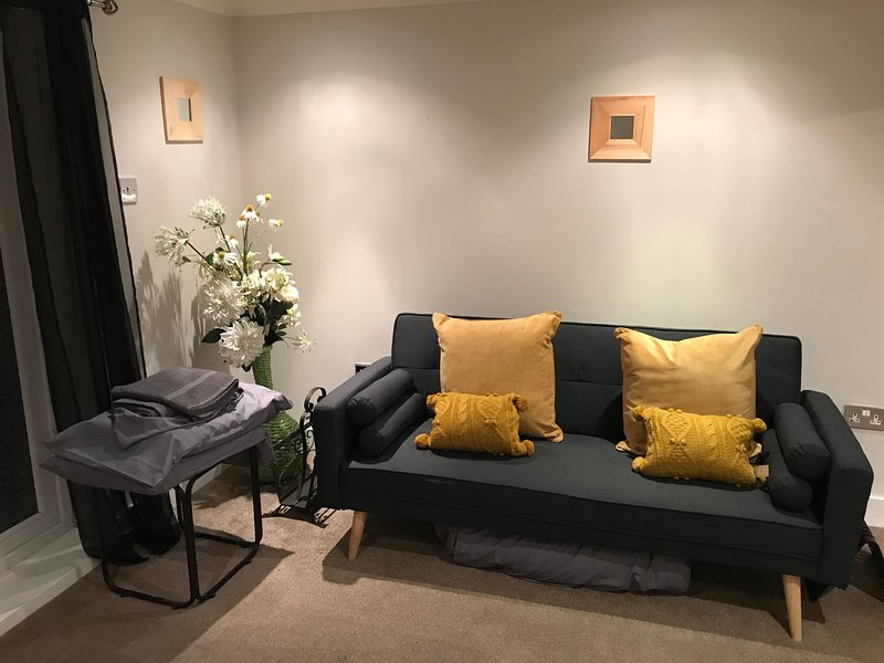 Spacious and comfortable living room, great for relaxing