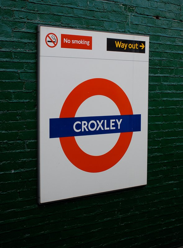 Croxley station is just an 8 minute walk from the flat