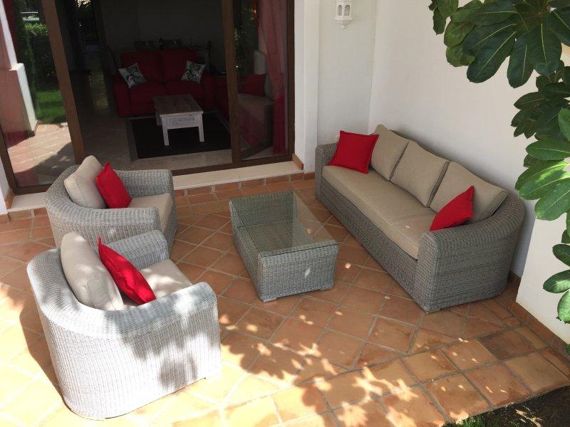 Shady garden furniture