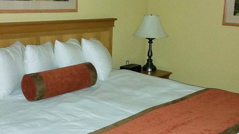 huge king bed - 2 of them!